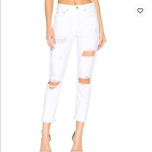 Karolina high rise skinny jeans, white